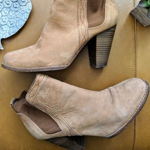 Joie Shoes - Joie Lennon tan suede western ankle boots